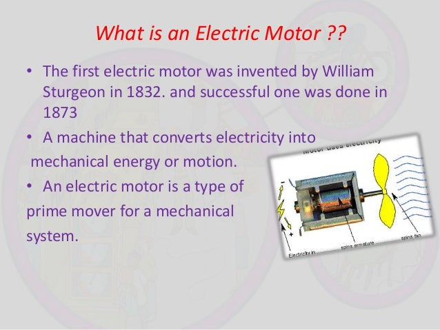 Who invented first electric motor for Who invented the electric motor in 1873
