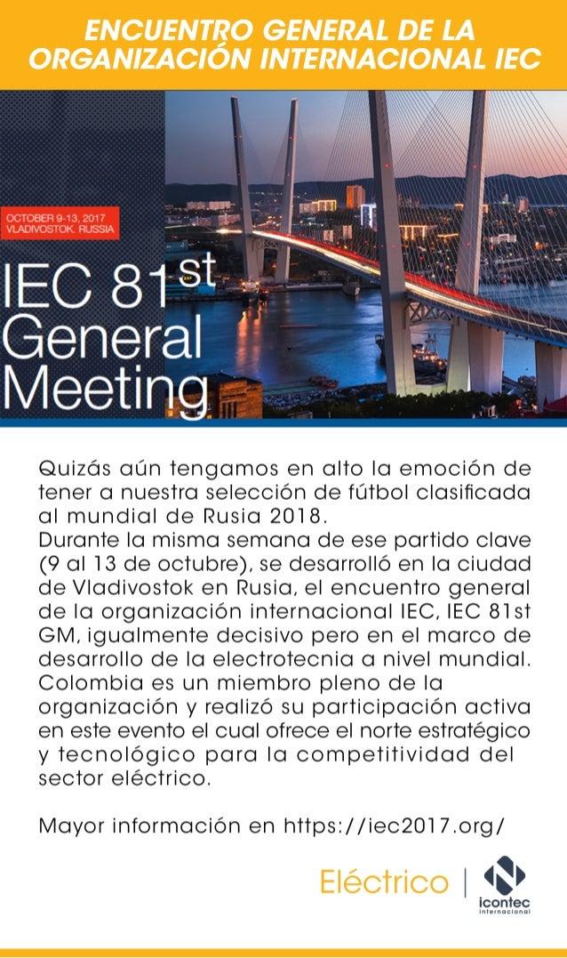Encuentro general de la organización internacional IEC
