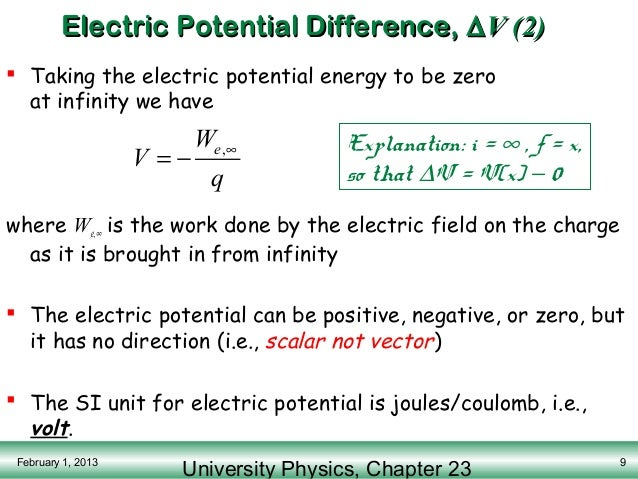 how to find where electric potential is zero