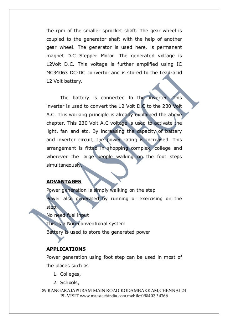 power generation using footsteps project pdf