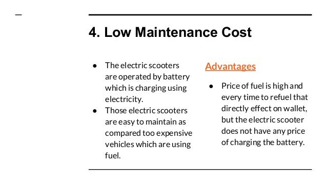 Advantages of Electric scooters - Safe Mobility