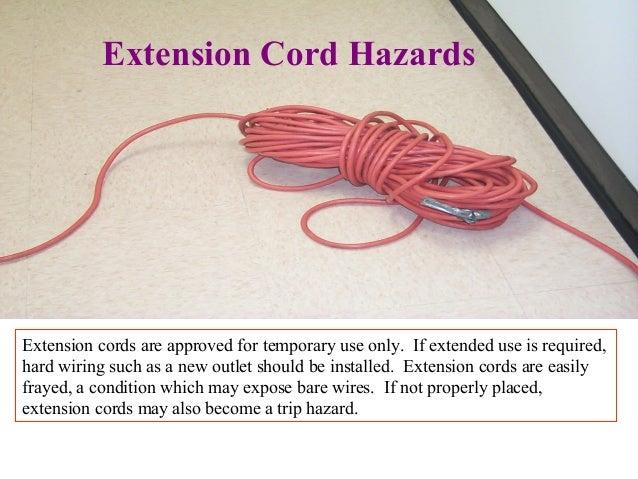 Extension Cord Trip Hazard : Electric shock