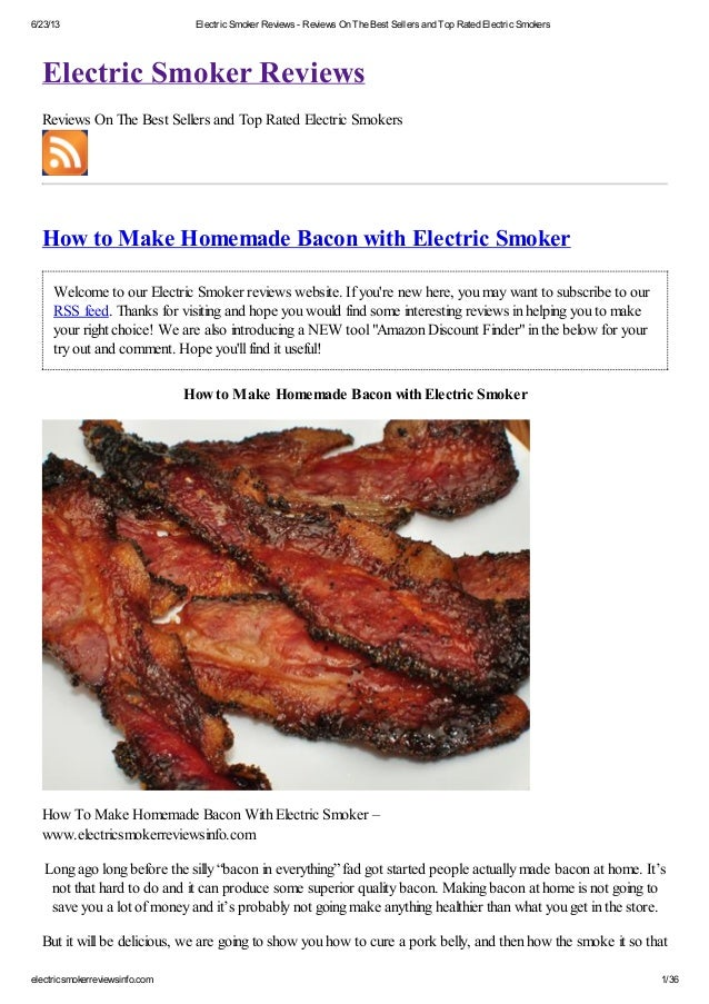 6/23/13 Electric Smoker Reviews - Reviews On The Best Sellers and Top Rated Electric Smokerselectricsmokerreviewsinfo.com ...