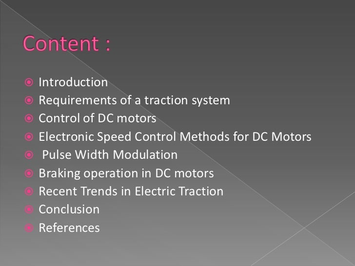    Traction motor refers to an electric motor    providing the primary rotational torque of a    machine, usually for con...