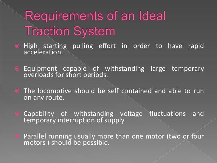  D.C series motors. Single phase A.C series motors Three-phase Induction motors