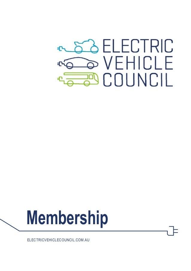 Membership electricvehiclecouncil.com.au