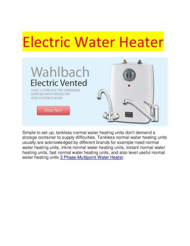 ariston under sink water heater installation instructions