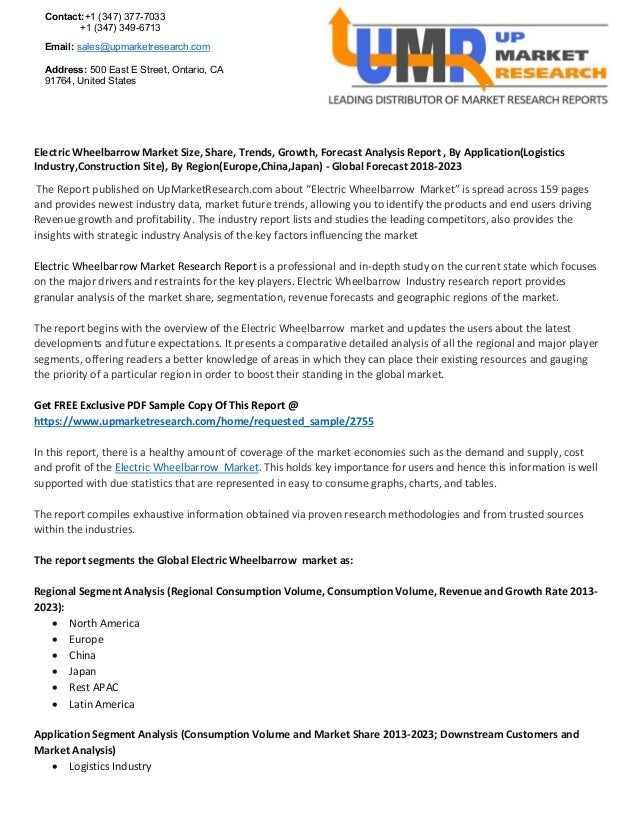 Electric wheelbarrow market size, share, trends, growth