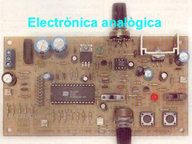 Electrònica analògica