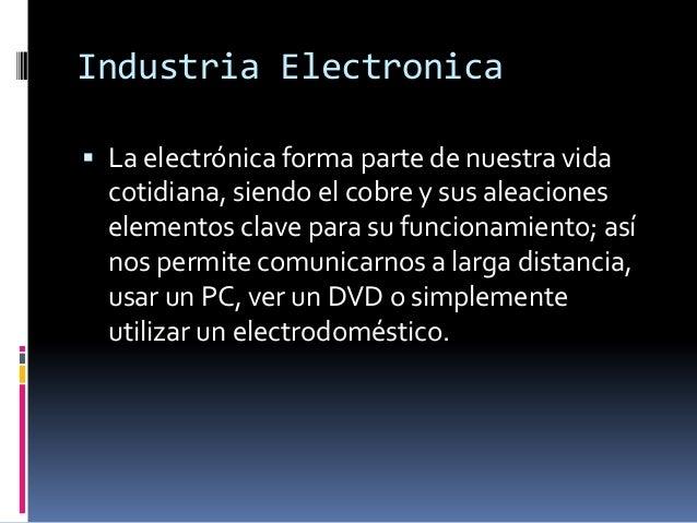Industria electrnica essay
