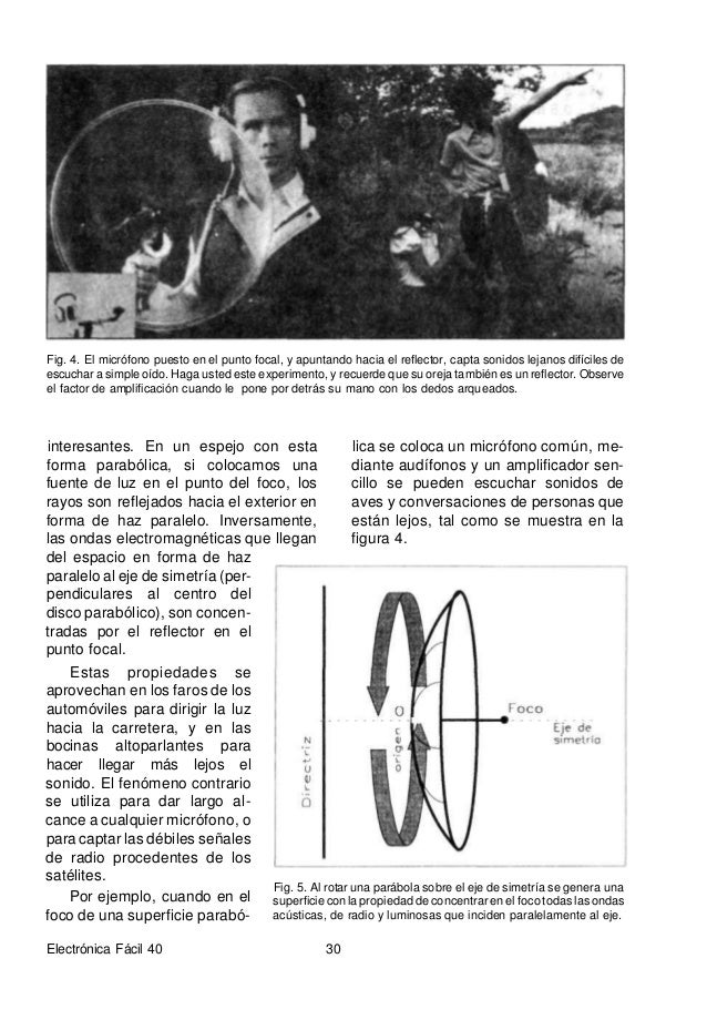 RELACIÓN FOCO-DIÁMETRO A modo de ejemplo, podemos con- siderar que un reflector parabólico es algo así como una bala hueca...