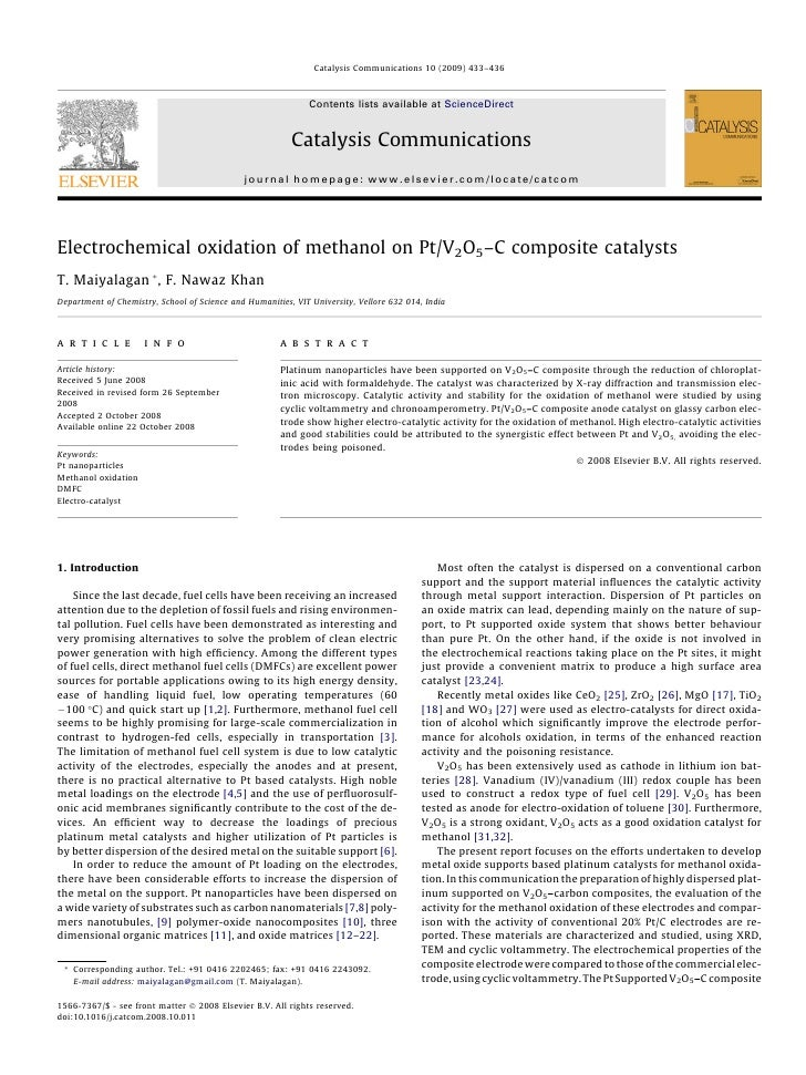Catalysis Communications 10 (2009) 433–436                                                              Contents lists ava...