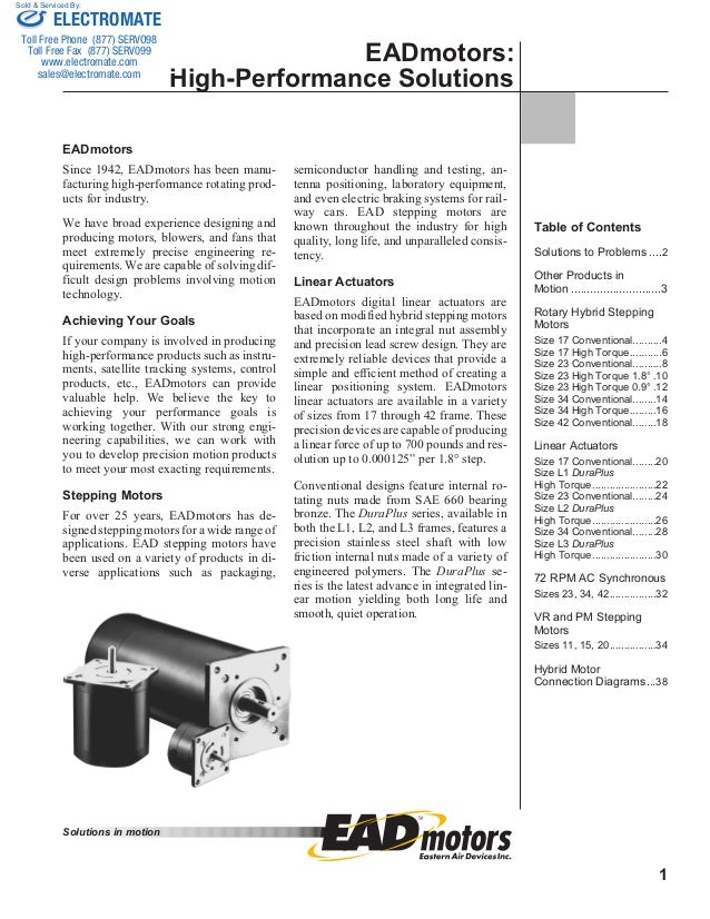 Electrocraft ead steppercatalog