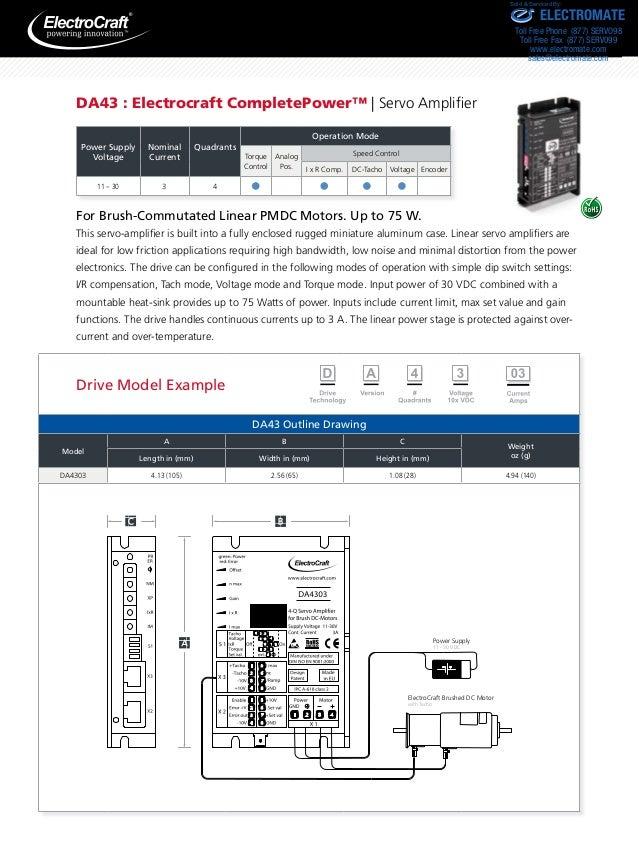 Electrocraft pmdc catalog for Electro craft servo motor specifications