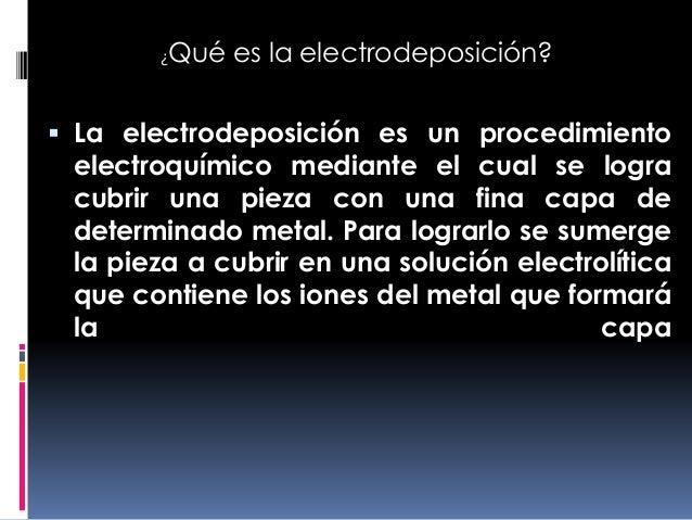 electrodeposici u00f3n