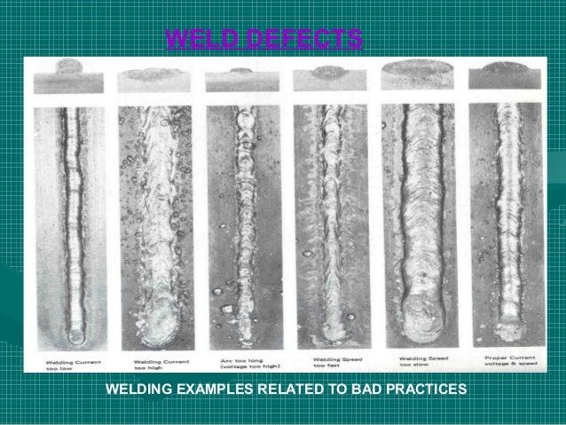 electrode welding defects