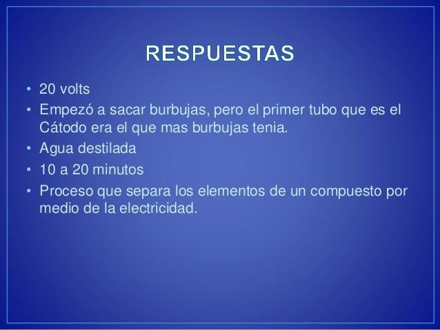 Practica 6 Electrolisis