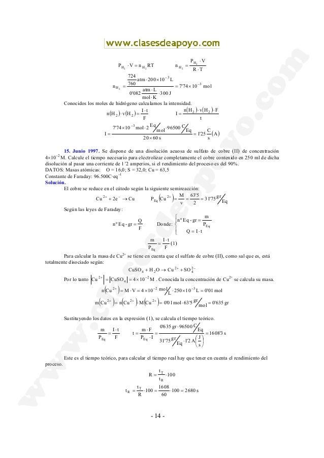 - 14 - TR VP nRTnVP 2 222 H HHH ⋅ ⋅ ==⋅ mol1074'7 J300 Kmol Latm 082'0 L10200atm 760 724 n 3 3 H2 − − ×= ⋅ ⋅ ⋅ ×⋅ = Conoci...