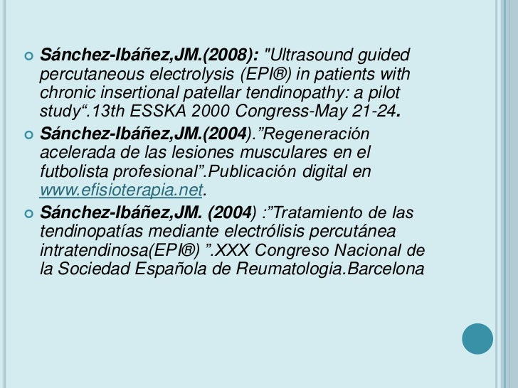 Electrolisis percutánea intratisular (epi)