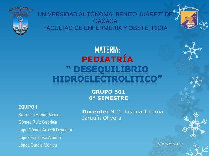 """UNIVERSIDAD AUTÓNOMA """"BENITO JUÁREZ"""" DE                          OAXACA           FACULTAD DE ENFERMERÍA Y OBSTETRICIA    ..."""