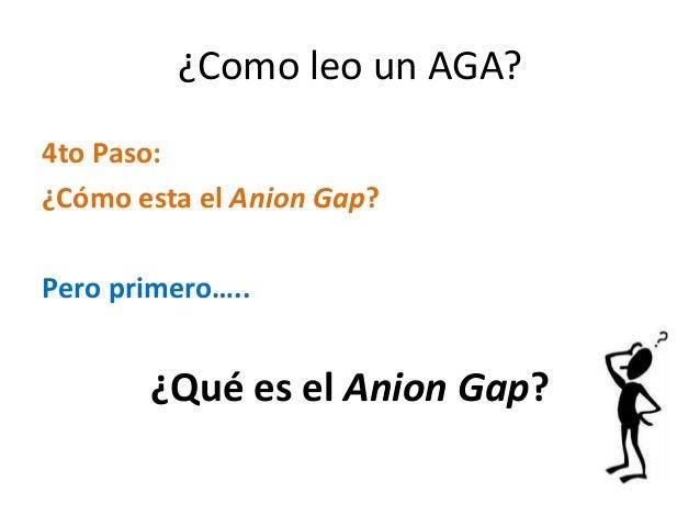 ¿Como leo un AGA? 4to Paso: ¿Cómo esta el Anion Gap? Pero primero….. ¿Qué es el Anion Gap?