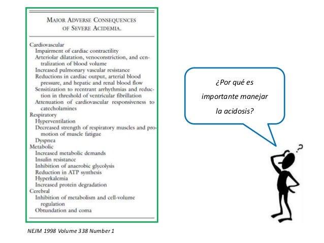 NEJM 1998 Volume 338 Number 1 ¿Por qué es importante manejar la acidosis?