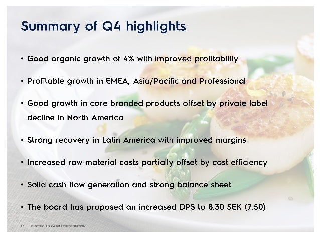 Electrolux Consolidated Results 2017 - Presentation