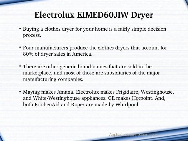 electrolux eimed60jiw