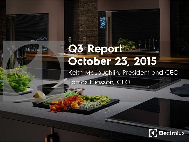 (SEKm) Q3 2014 Q3 2015 Change Sales 28,784 31,275 8.7% Organic growth 2.1% Acquired growth 0.3% Currency 6.3% EBIT 1,392 1...