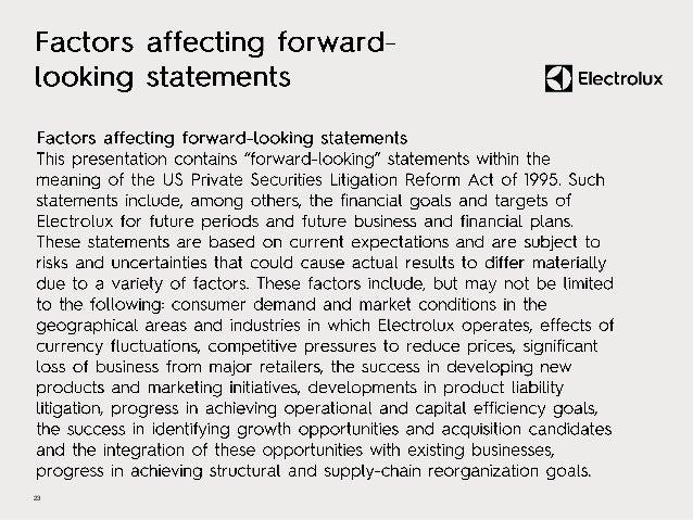 Electrolux Interim Report Q3 2015 - Presentation