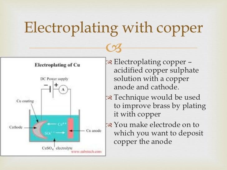 Electrolysis and Electroplating
