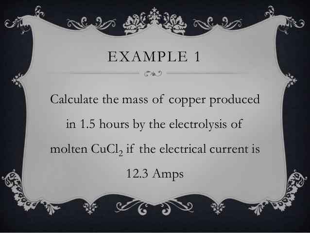 Electrolysis calculations