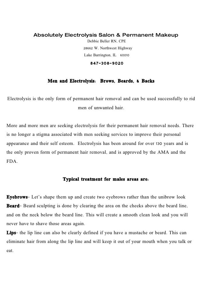 Electrolysis For Men