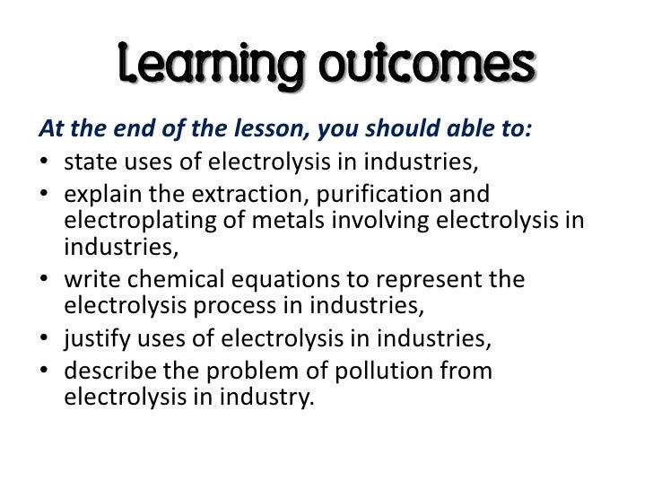 Electrolysis in industries
