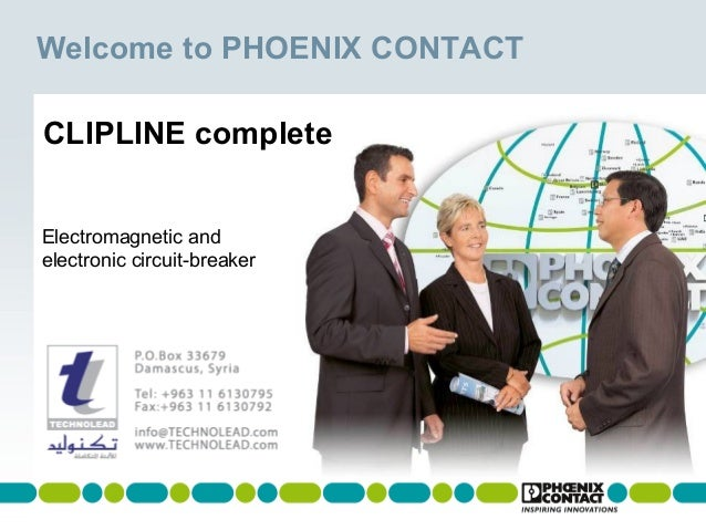 Welcome to PHOENIX CONTACT CLIPLINE complete Electromagnetic and electronic circuit-breaker