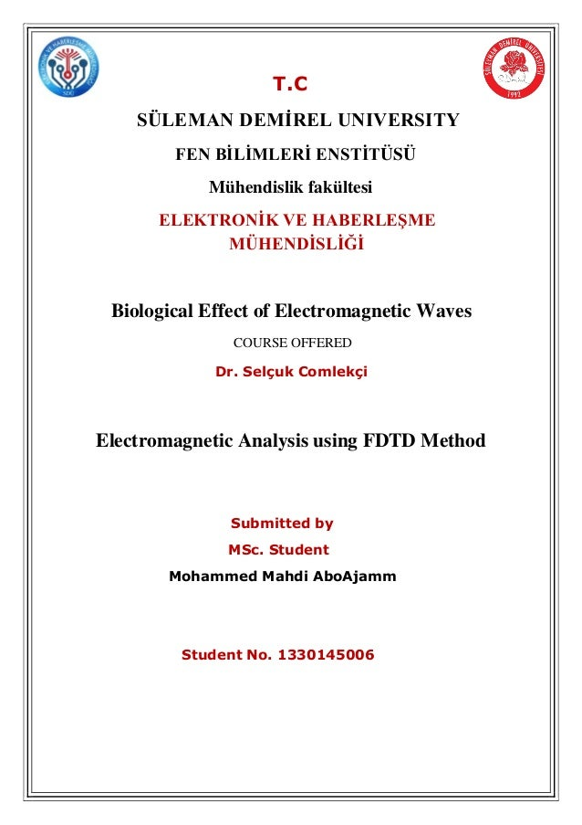 an introduction and an analysis of the electromagnetic spectrum The seven different types of waves that form the electromagnetic spectrum are  introduced.