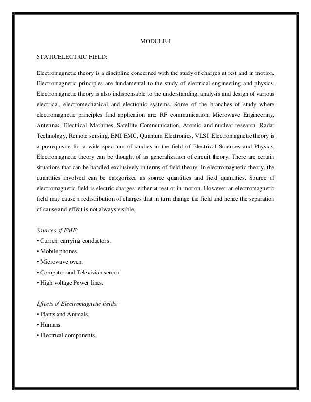 EMFT NOTES PDF
