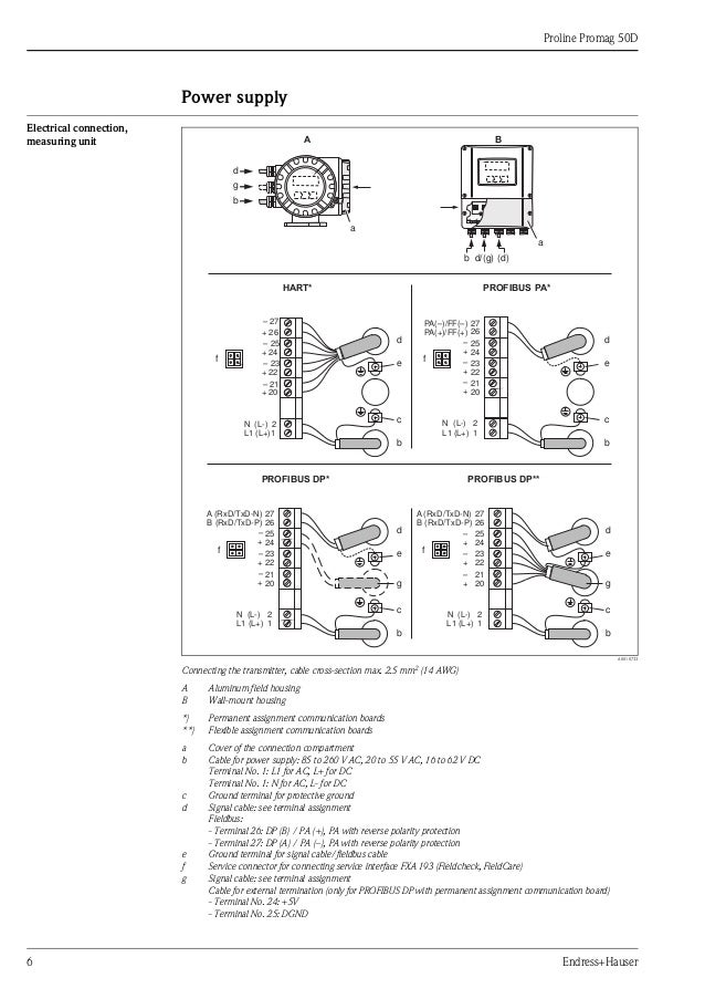 flow transmitter wiring diagram flow image wiring electromagnetic flowmeter proline promag 50d on flow transmitter wiring diagram