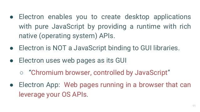 Electron JS   Build cross-platform desktop applications with