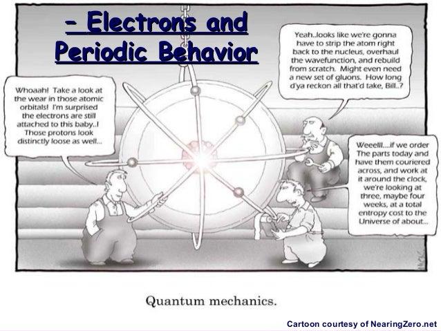 – Electrons andPeriodic Behavior                    Cartoon courtesy of NearingZero.net