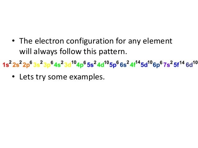 how to write outer electron configuration