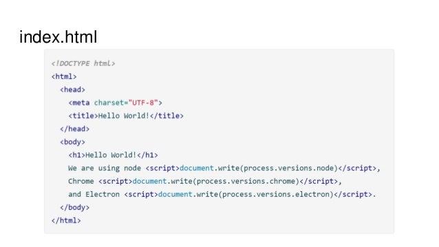 Electron  Build cross platform desktop apps with web technologies!