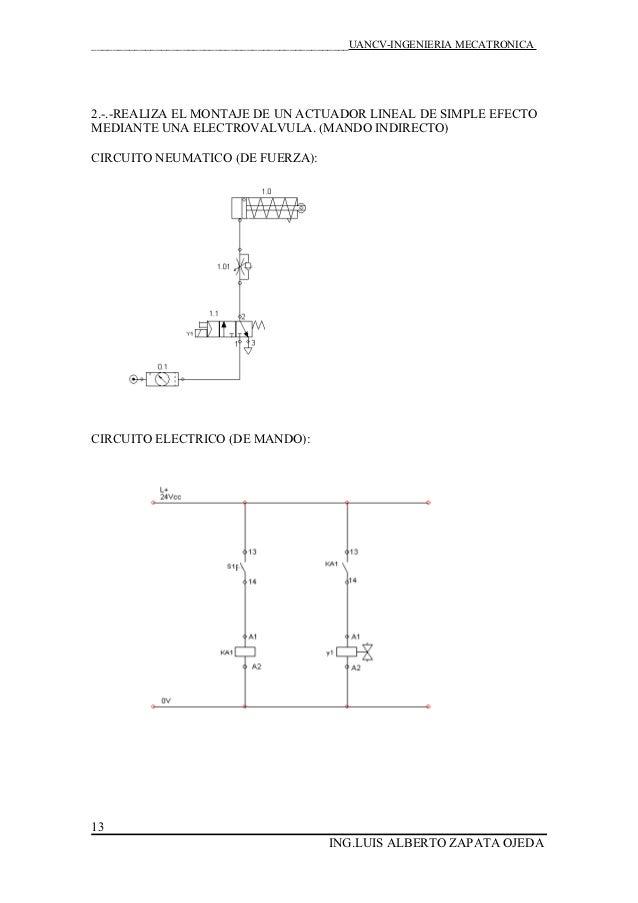 Circuito Neumatico Simple : Electroneumatica