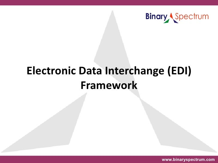 a report on electronic data interchange Electronic data interchange is the exchange of common business documents between organizations using a machine-based communications and archiving system.