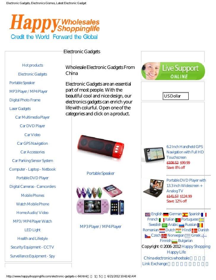 Electronic Gadgets, Electronics Gismos, Latest Electronic Gadget                                             Electronic Ga...