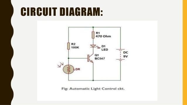 automatic light control using ldr RL Circuit Combination