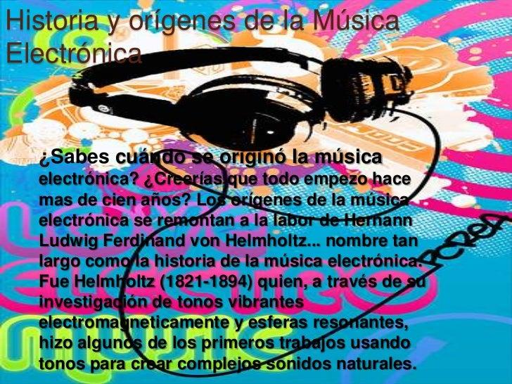 Historia y orígenes de la Música Electrónica<br />¿Sabes cuándo se originó la música electrónica? ¿Creerías que todo empez...