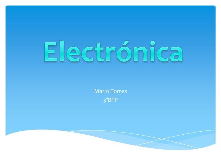 Mario Torres  3°BTP