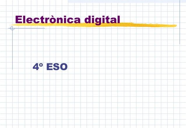 Electrònica digital 4º ESO