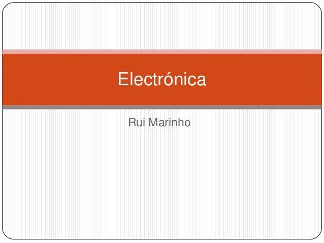 Electrónica Rui Marinho
